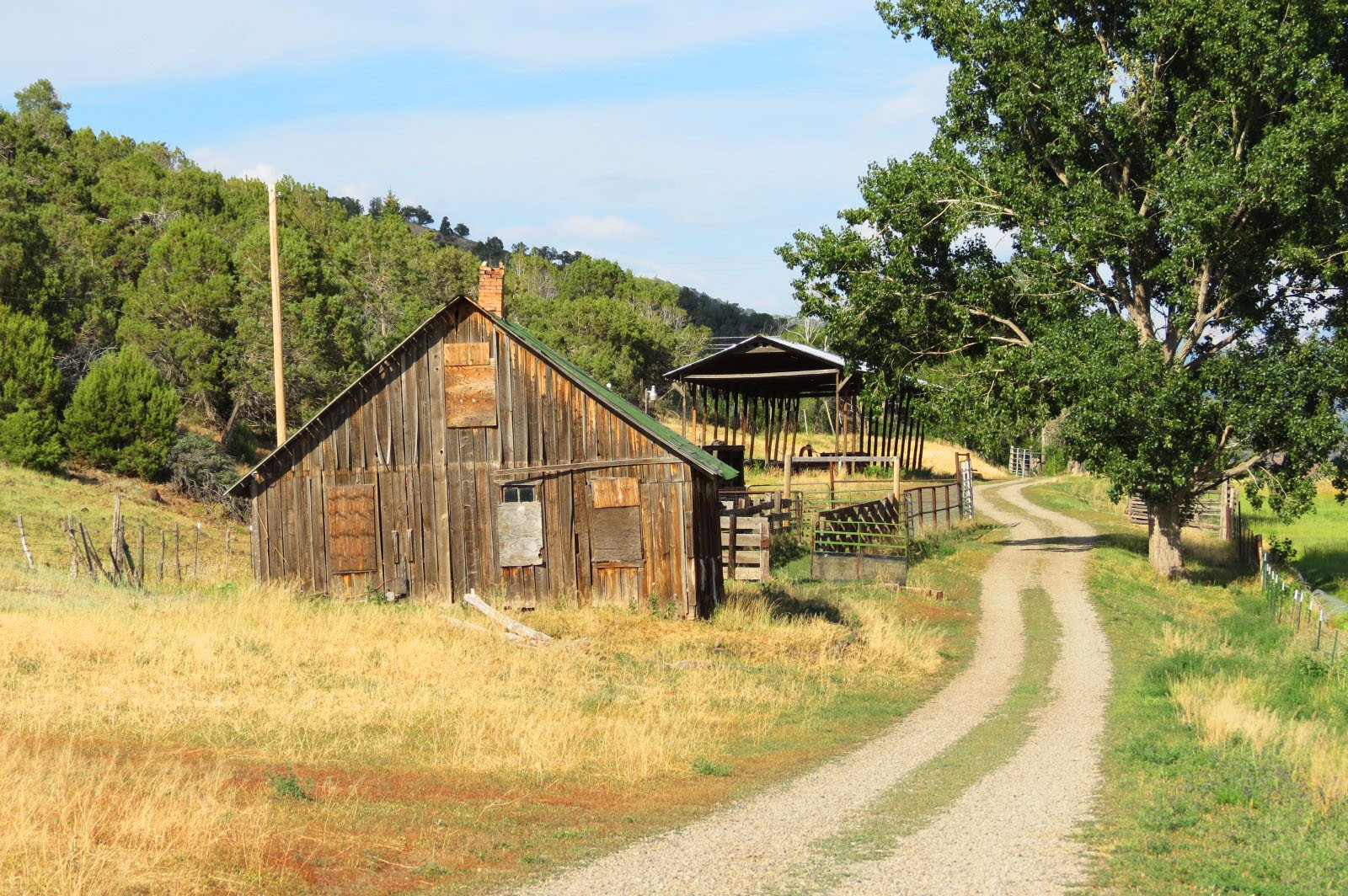 old ranch buildings
